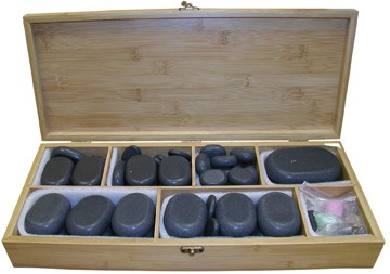Deluxe 64Pcs Massage Stone Set ( shown in Photo)