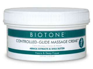 Use Controlled-Glide Massage Creme for fascia and